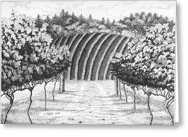 Vineyard Greeting Card by Lawrence Tripoli