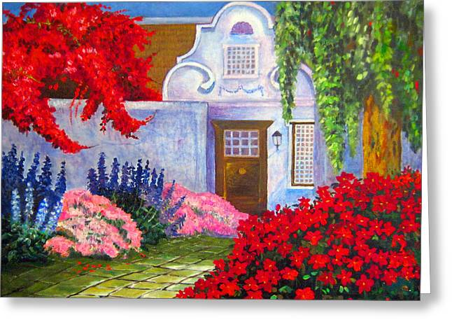 Cape Town Paintings Greeting Cards - Vineyard Spring  Greeting Card by Michael Durst
