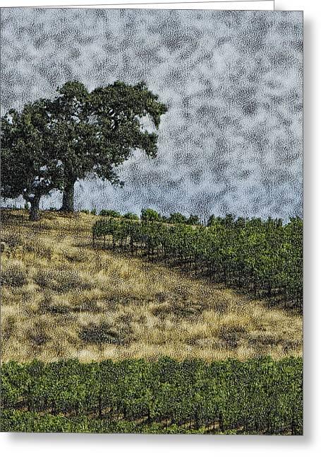 Vineyard Tree Greeting Card by Gilbert Artiaga