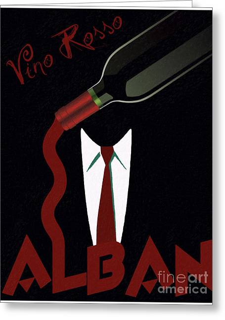 Red Wine Digital Art Greeting Cards - Vino Rosso  Greeting Card by Cinema Photography
