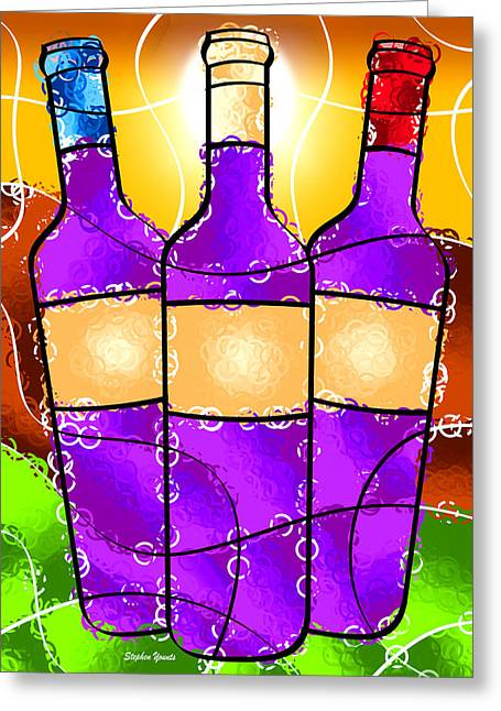 Pinot Digital Art Greeting Cards - Vino Greeting Card by Stephen Younts
