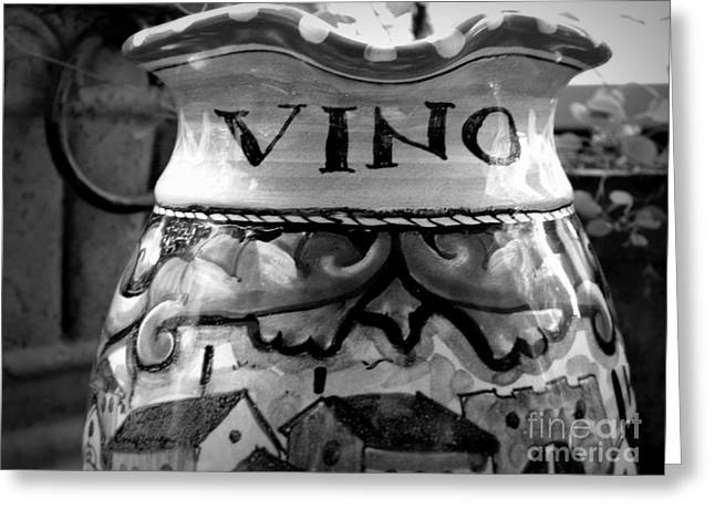 Searcy Greeting Cards - Vino Greeting Card by Tanya  Searcy