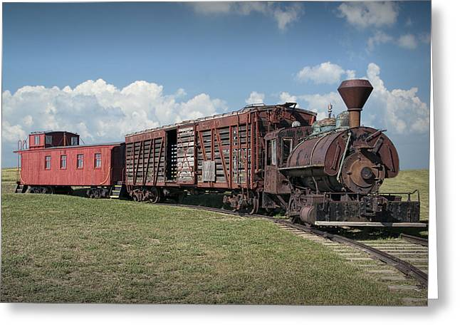1880s Photographs Greeting Cards - Vintage 1880 Locomotive Train No.1027 Greeting Card by Randall Nyhof