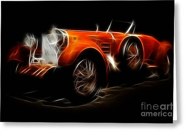 Suiza Greeting Cards - Vintage 1924 Hispano Suiza Greeting Card by Wingsdomain Art and Photography