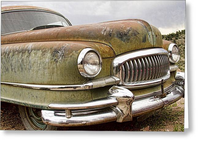 1951 Greeting Cards - Vintage 1951 Nash Ambassador Front End Greeting Card by James BO  Insogna