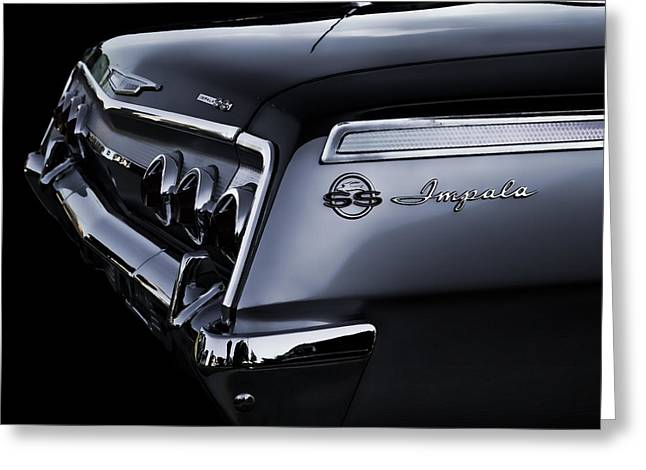 Chrome Greeting Cards - Vintage 62 Impala SS Greeting Card by Douglas Pittman