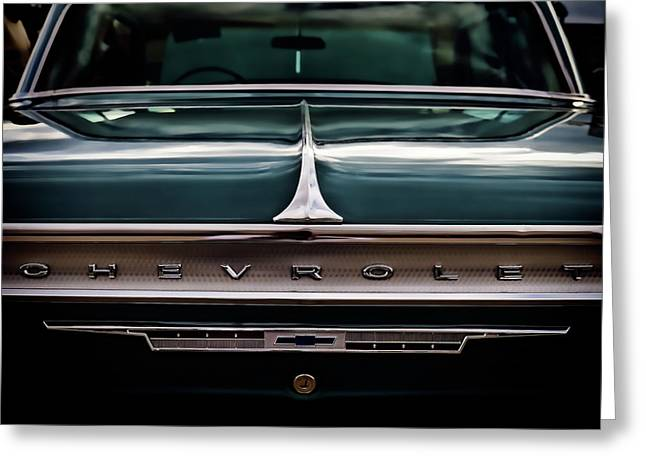 Vintage Greeting Cards - Vintage 64 Chevy Impala Greeting Card by Douglas Pittman