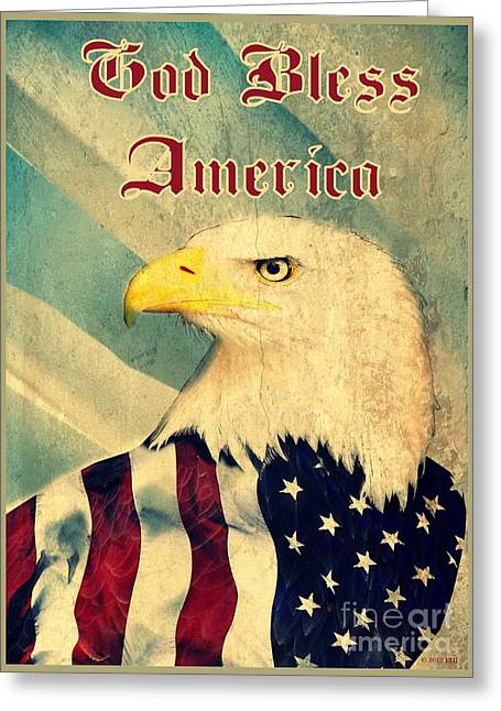 Americanism Greeting Cards - Vintage Americana Poster Greeting Card by Earl Jackson