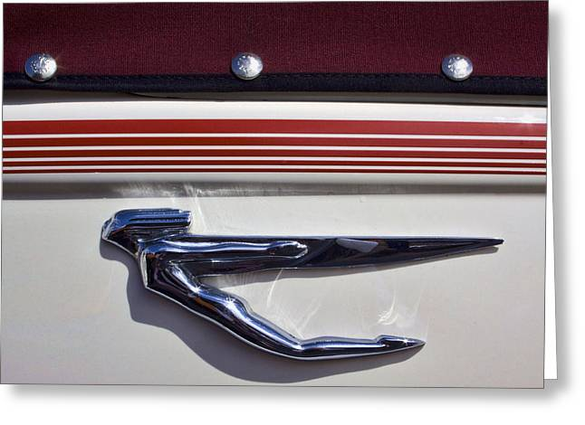Vintage Auburn Automobile Mascot Greeting Card by Carol Leigh