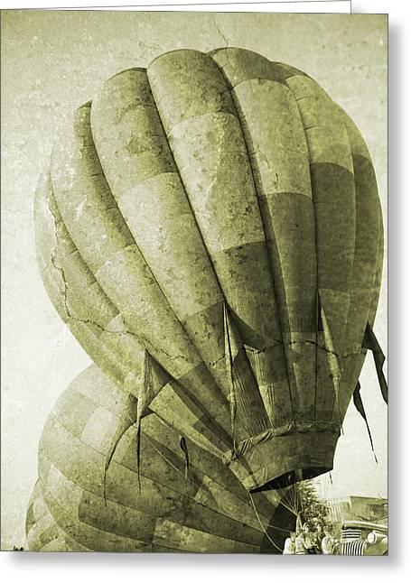 Vintage Ballooning II Greeting Card by Betsy Knapp