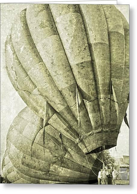Ballooning Greeting Cards - Vintage Ballooning III Greeting Card by Betsy C  Knapp