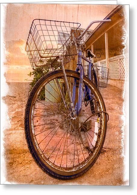 Delray Greeting Cards - Vintage  Bicycle Greeting Card by Debra and Dave Vanderlaan