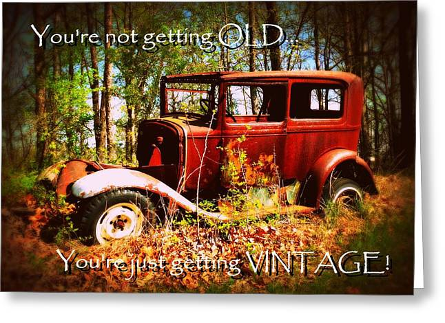 Vintage Birthday Greeting Greeting Card by Cindy Wright