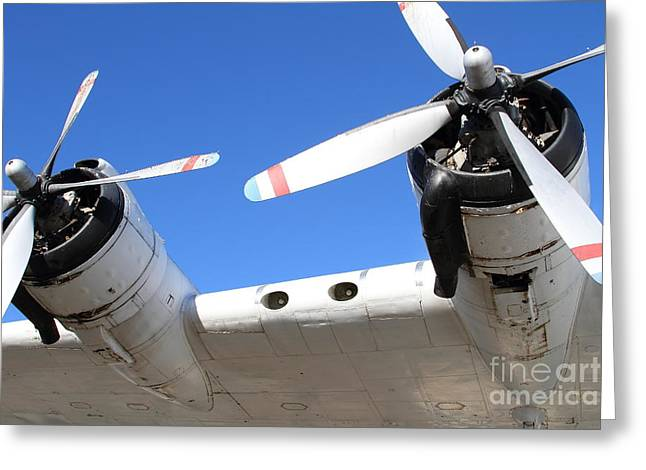 Vintage BOAC British Overseas Airways Corporation Speedbird Flying Boat . 7D11260 Greeting Card by Wingsdomain Art and Photography