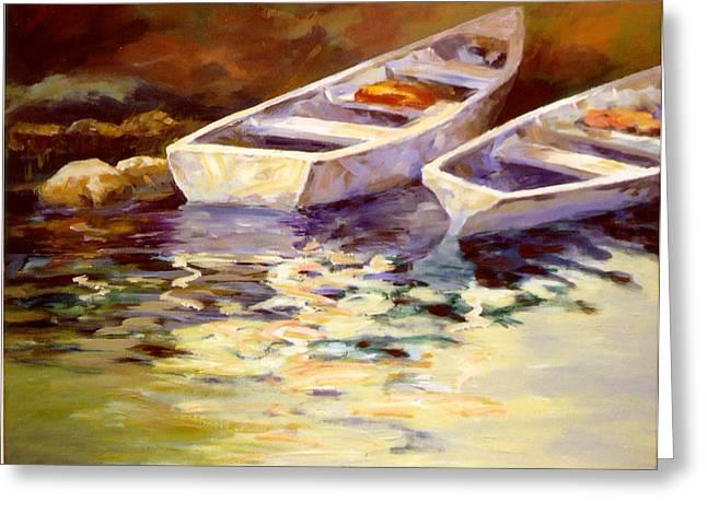 Vintage Boats Greeting Card by David Rickert