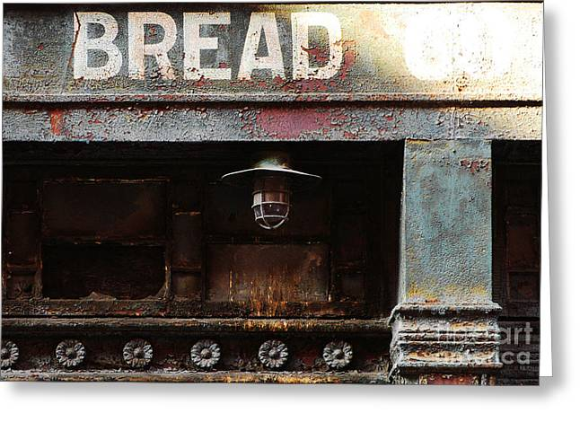 Patina Digital Art Greeting Cards - Vintage Bread Sign Greeting Card by Anahi DeCanio