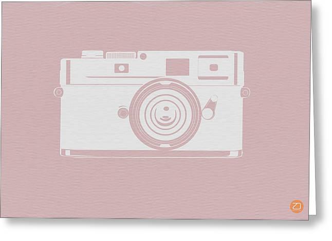Vintage Camera Poster Greeting Card by Naxart Studio