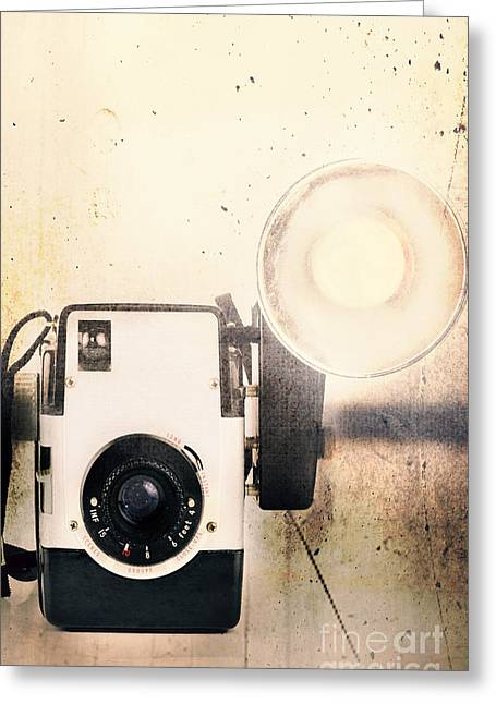 1950s Candids Greeting Cards - Vintage Camera Greeting Card by Stephanie Frey