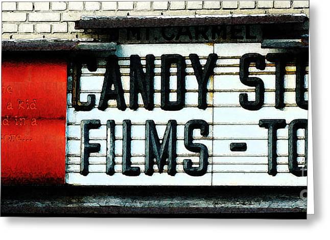 Toy Store Mixed Media Greeting Cards - Vintage Candy Store Greeting Card by AdSpice Studios