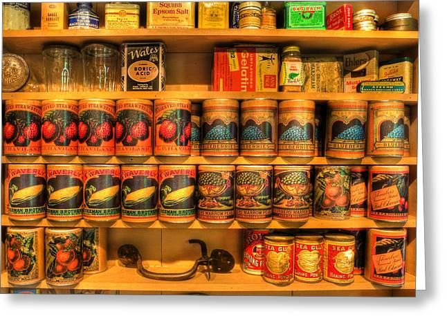 Do Business Greeting Cards - Vintage Canned Goods - General Store Vintage Supplies - nostalgia Greeting Card by Lee Dos Santos