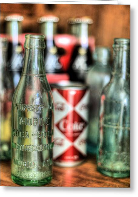 Bottle. Bottling Photographs Greeting Cards - Vintage Chic Greeting Card by JC Findley