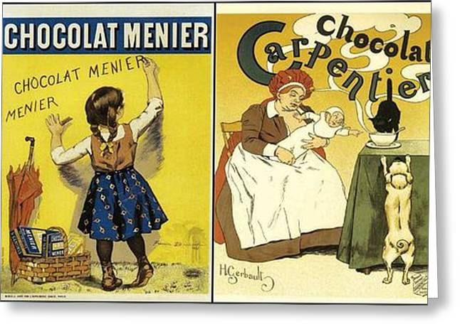 Labelled Greeting Cards - Vintage Chocolate Labels Greeting Card by Don Struke