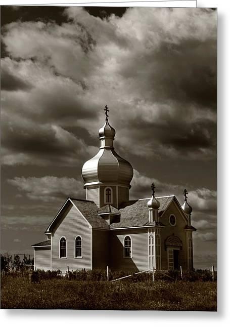 Edmonton Photographer Greeting Cards - Vintage Church Greeting Card by Jerry Cordeiro