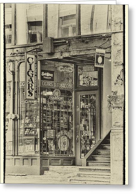 Pioneer Square Seattle Greeting Cards - Vintage Cigar Store II Greeting Card by David Patterson