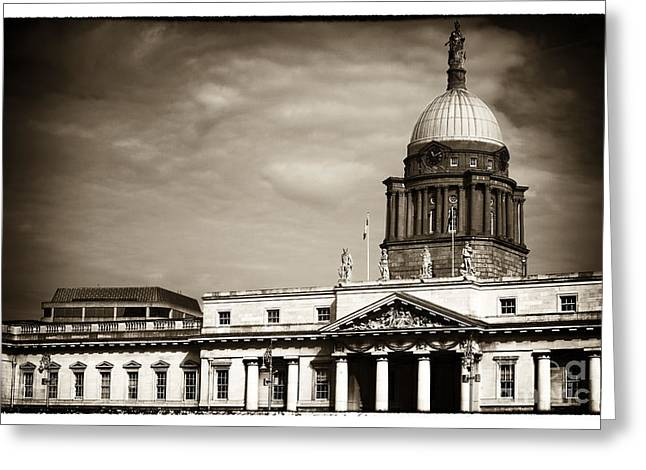 Old School House Greeting Cards - Vintage Custom House Greeting Card by John Rizzuto