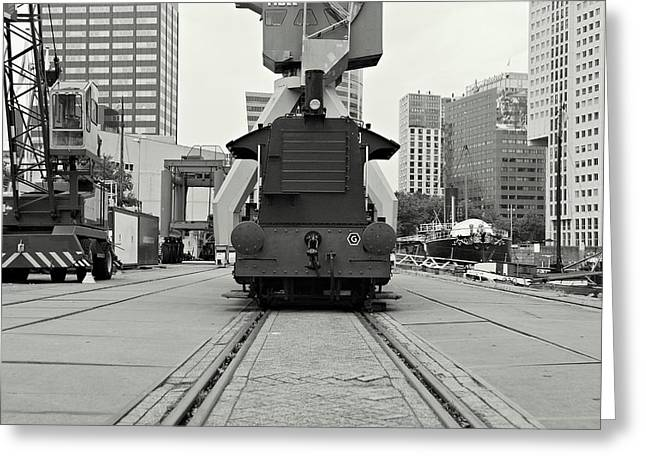 Diesel Locomotives Greeting Cards - Vintage Diesel Locomotive Greeting Card by Dean Harte
