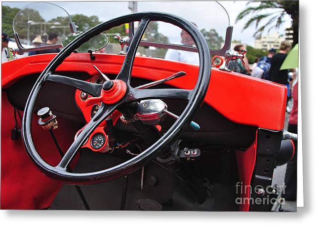 Vintage Ford - Steering Wheel... Controls - Circa 1920s Greeting Card by Kaye Menner