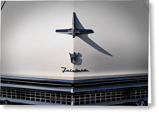 Grill Greeting Cards - Vintage Ford Fairlane Hood Ornament Greeting Card by Douglas Pittman