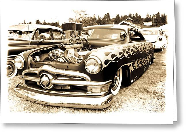 American Grafitti Greeting Cards - Vintage Ford Greeting Card by Steve McKinzie