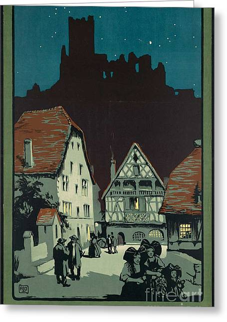 Kaysersberg Greeting Cards - Vintage French Travel Poster 2 Greeting Card by George Pedro