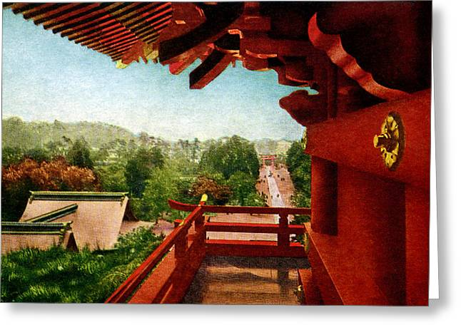 Kyoto Paintings Greeting Cards - Vintage Japanese Art 13 Greeting Card by Hawaiian Legacy Archive - Printscapes