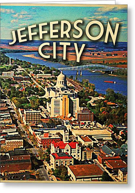 Vintage Jefferson City Missouri  Greeting Card by Flo Karp