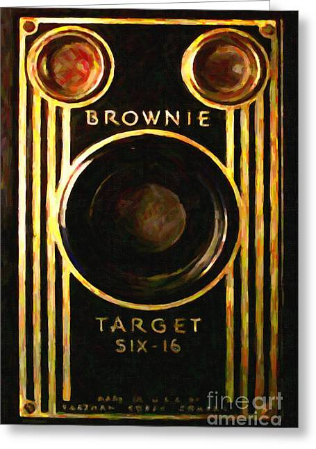 Reflex Digital Art Greeting Cards - Vintage Kodak Brownie Target Six-16 Camera . Version 2 Greeting Card by Wingsdomain Art and Photography