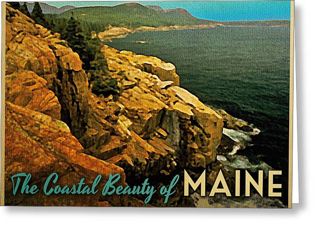 Vintage Maine Coast Greeting Card by Flo Karp