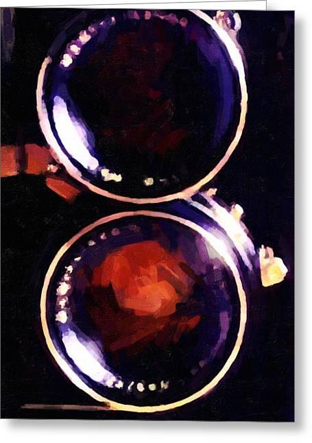 Reflex Digital Art Greeting Cards - Vintage Mamiya Camera Greeting Card by Wingsdomain Art and Photography