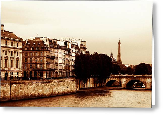 Vintage Paris 5 Greeting Card by Andrew Fare