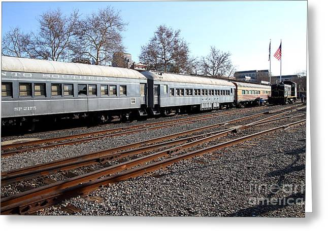 Vintage Railroad Trains . 7d11623 Greeting Card by Wingsdomain Art and Photography