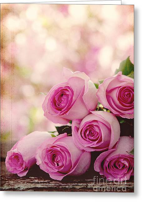 Vintage Rose Greeting Card by Kim Fearheiley
