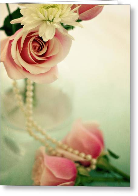 Apothecaries Greeting Cards - Vintage Rose Greeting Card by Lana Trussell