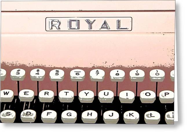 Vintage Royal Typewriter Greeting Card by Glennis Siverson
