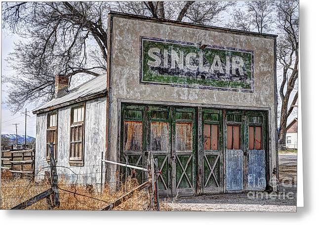 Best Sellers -  - Historic Country Store Greeting Cards - Vintage Rural Gas Station - Elberta Utah Greeting Card by Gary Whitton