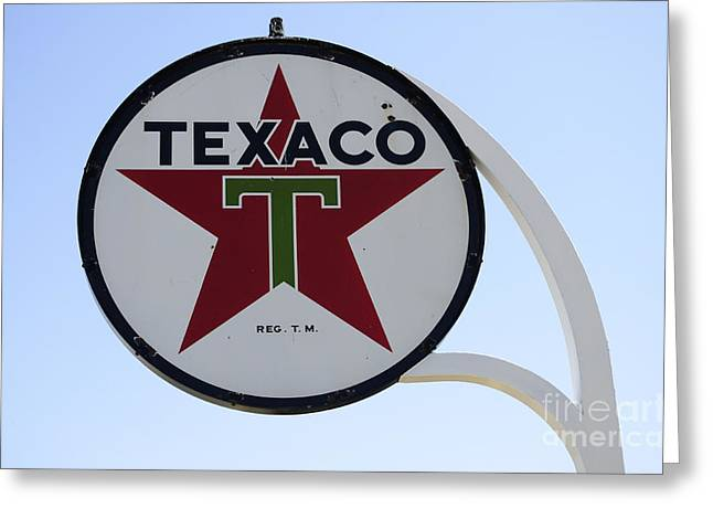 Fun Signs Greeting Cards - Vintage Sign For Texaco Greeting Card by Bob Christopher