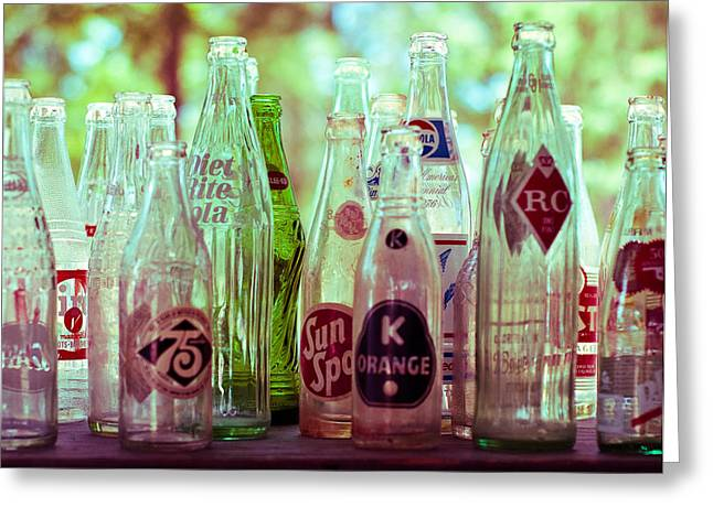 Fine Bottle Greeting Cards - Vintage Soda Pop Greeting Card by Sonja Quintero