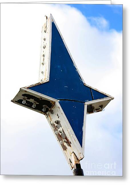 Artistic Photography Greeting Cards - Vintage Star Sign Greeting Card by Sophie Vigneault