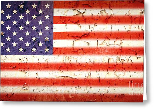 Vintage Stars and Stripes Greeting Card by Jane Rix