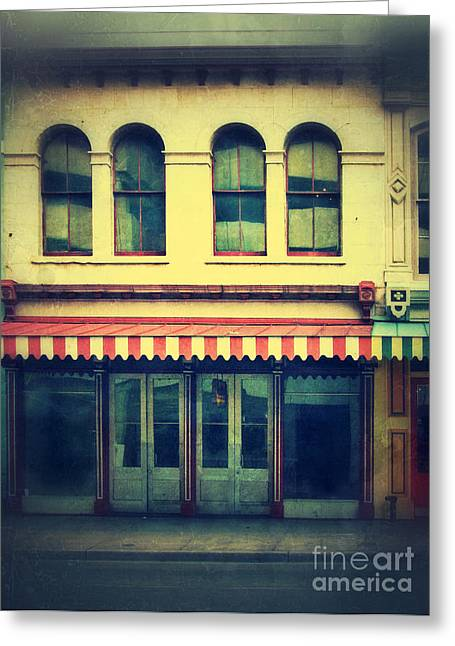 Entrance Shop Front Greeting Cards - Vintage Store Fronts Greeting Card by Jill Battaglia